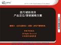 伟业_四川成都西月城街地产项目产品定位营销策略方案_83P_广告宣传_价格策略_招商策略