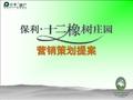 <font color=red>保利</font>武汉十二橡树庄园项目营销策划提案_50P_别墅_项目定位_价格建议_推售方案