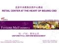 北京财富购物中心招商手册_29P_中央商务区_整体运营_项目位置_项目可达性